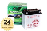Leoch YB9B / CB9B - Dry Charged Motorcycle Battery + Acid Pack